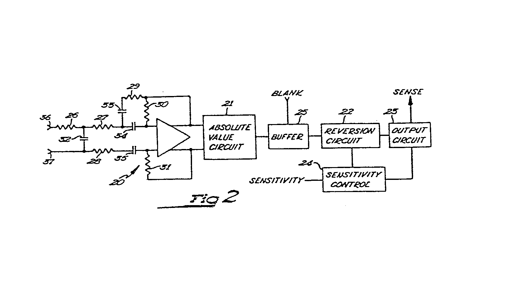 Cardiac Pacemaker Patent 0011933 Simple Buffered Analog Switch Circuit Diagram Electronic To The Capacitors Of Reversion 22 Blanking Signal May Be Supplied From Digital Circuitry And Is Arranged Bias Buffer Amplifier Into