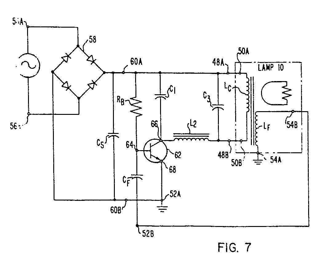 Electrodeless Discharge Lamp Radio Frequency Oscillator Circuit The Designer Of Claims Transistor Connected To Also Wrapped About Looped Core And Electrically Connects Switch Portion In Order Provide Feedback Oscillatory