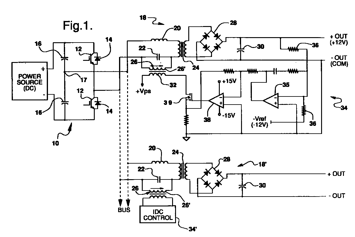 Resonant Converter With Controlled Inductor Patent 0778659 Circuit Diagram The Has Effect Of Changing Capacitor Impedance And Thus Influences Output Multiple Independently