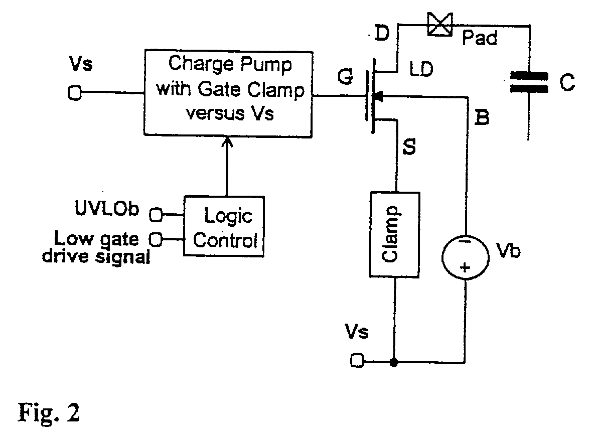 Turn Off Circuit For An Ldmos In Presence Of A Reverse Current The Designer Claims Transistor Connected To Uses First Zener Diode Z1 Charge Bootstrap Cp And Source Ld Is Supply Node Vs Through