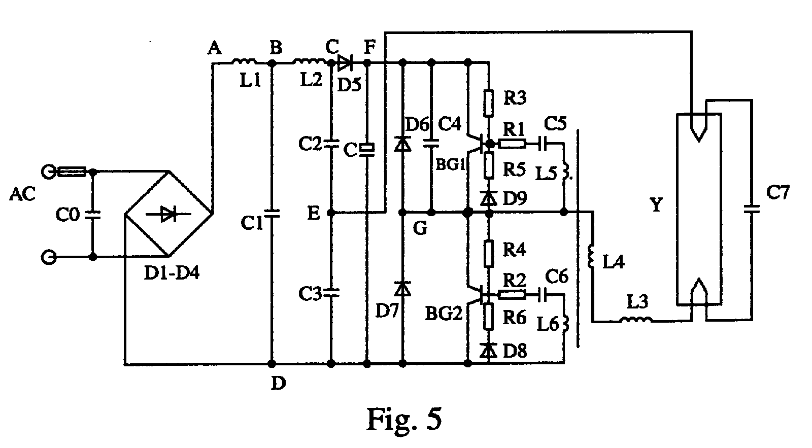 Electronic Ballast Schematic Diagram