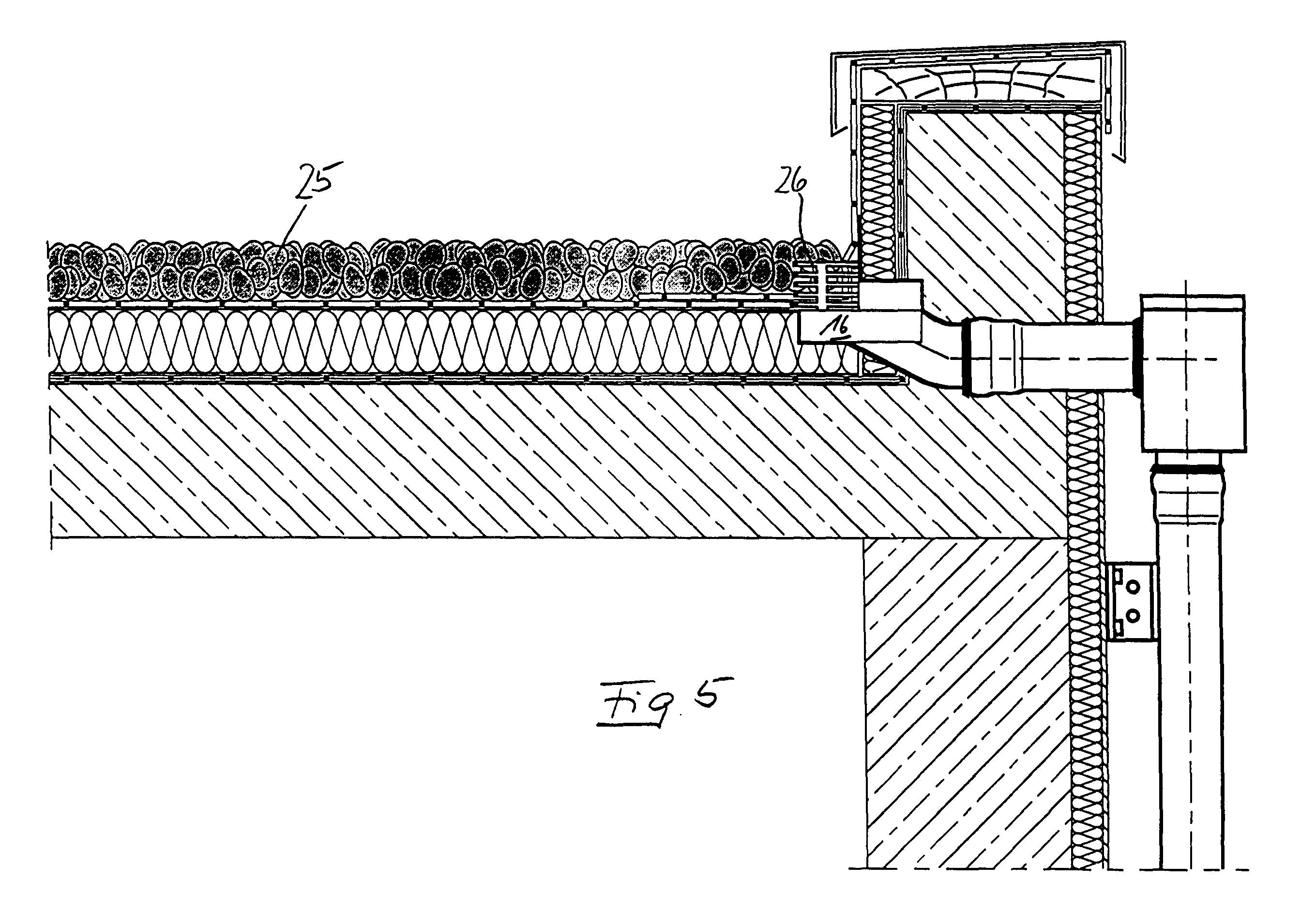 Flachdach Wasserablauf Und Flachdach Mit Einem Flachdach
