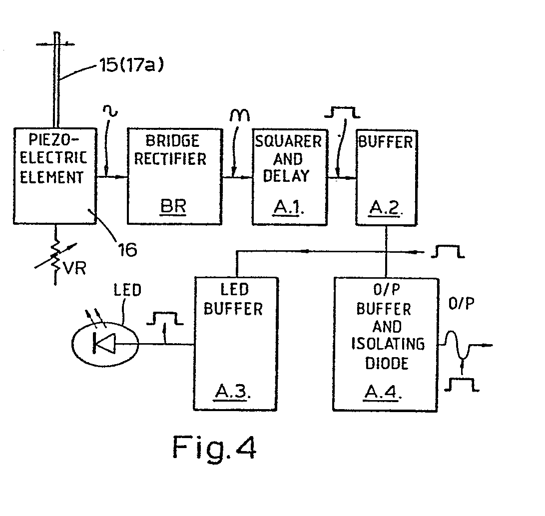 Bite Indicators Patent 0153869 Rod Piezo Wiring Diagrams In Both Cases Movement Of The Fishing When A Occurs Is Sensed By Sensing Element And Thereby Actuates Indicating Means Led