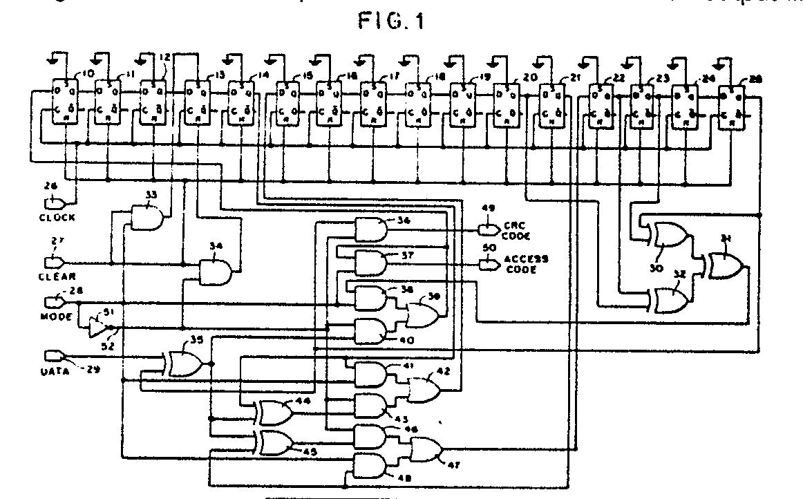 Circuit combining functions of cyclic redundancy check code