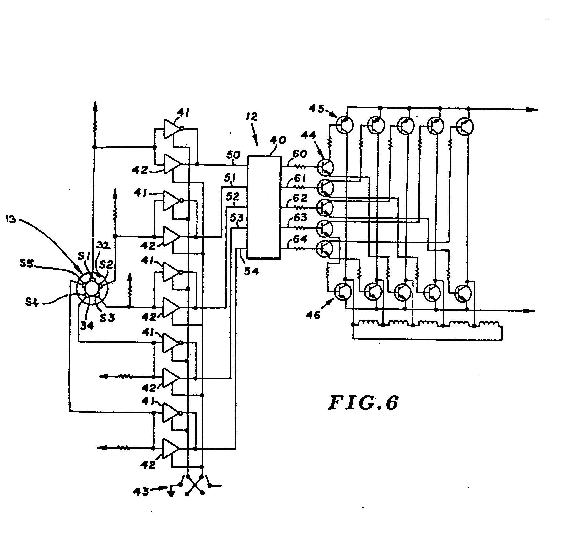 Brushless Dc Motor And Control Circuit Therefor Patent 0032441 Shows About Twotransistor Driver Diagram