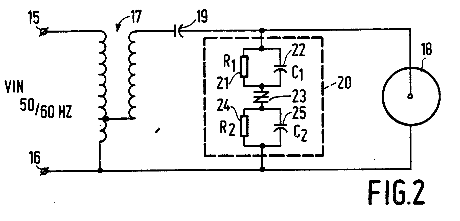 Two Lead Igniter For Hid Lamps Patent 0383385 Ballast Schematic Moreover Led Wiring Diagram Multiple Lights Together Of The First And Second Networks A High Frequency Voltage Pulsatory Open Circuit That Provides More Reliable Ignition Lamp