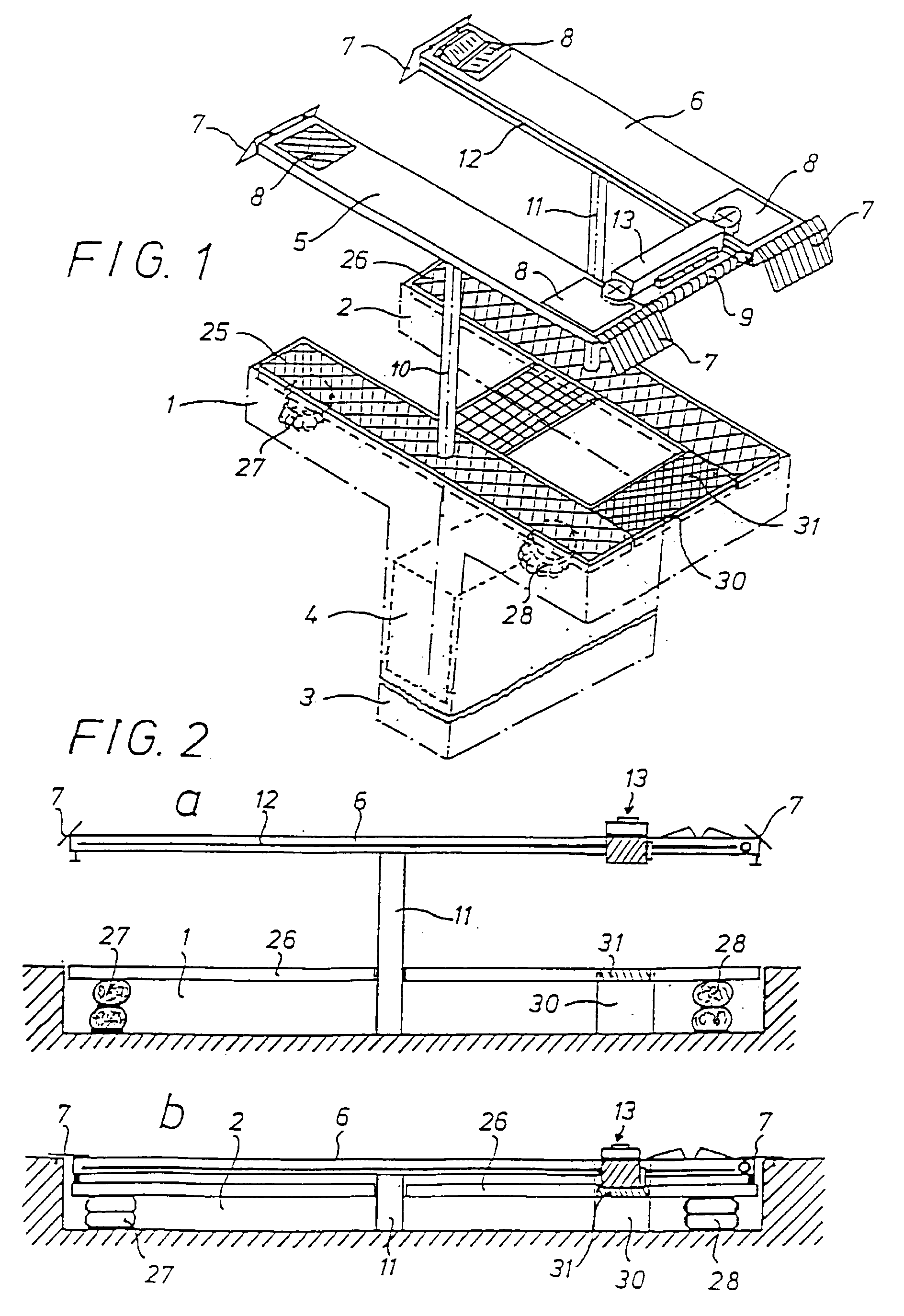 Relativ Hebebühne für zweispurige Fahrzeuge - Patent 0972742 EG18