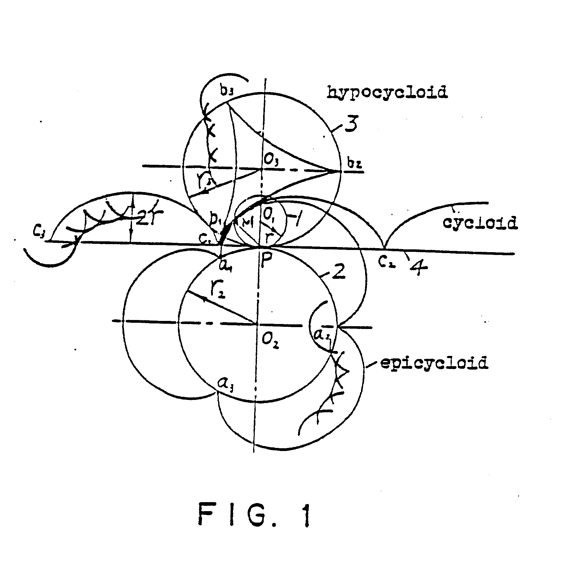 Cycloidal equidistant curved gear transmission mechanism and