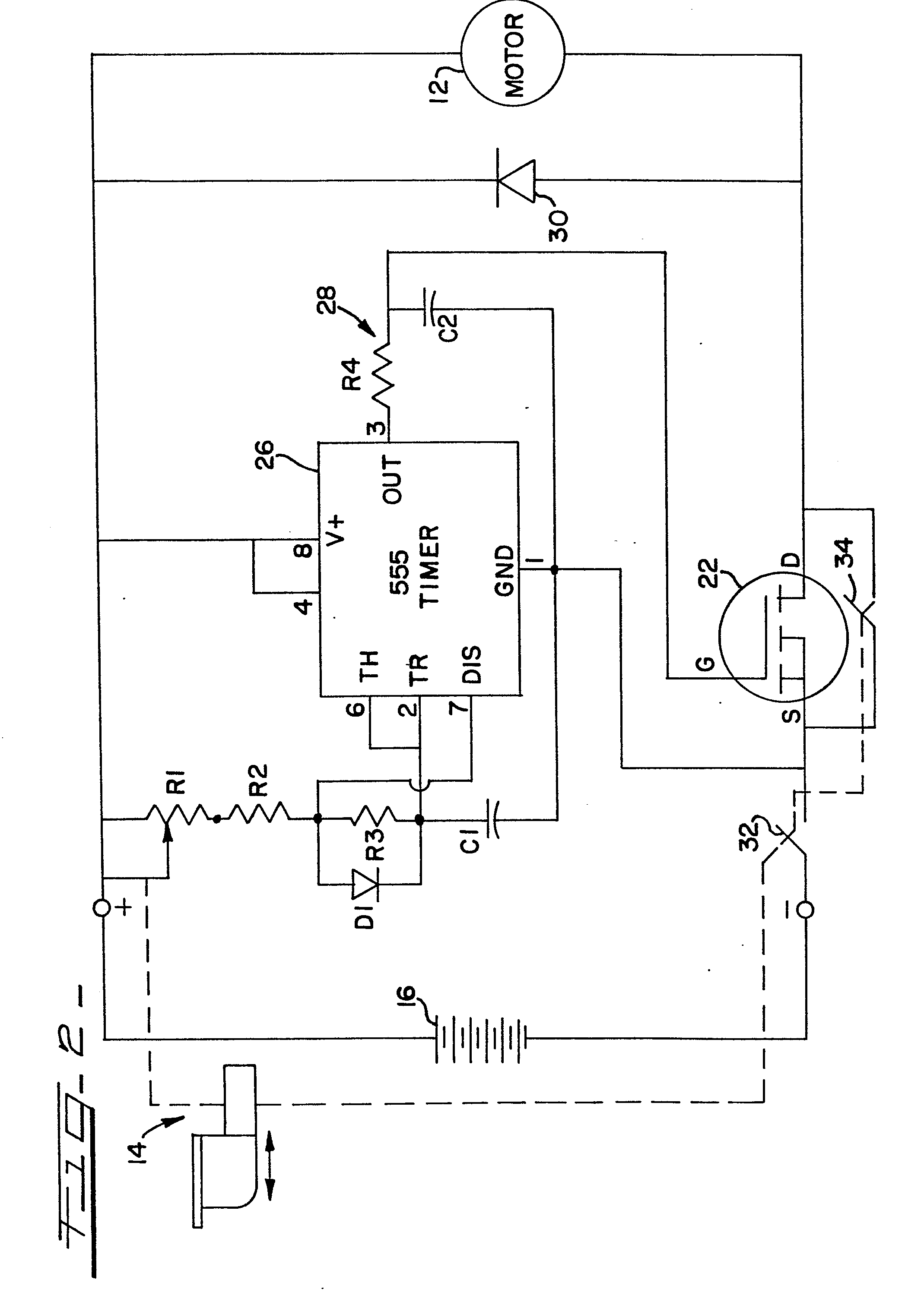 Speed Control For Power Tools Having A Dc Motor Patent 0076039 This Circuit Will Remove The Transient Spikes And Contact Bounces From Drawing
