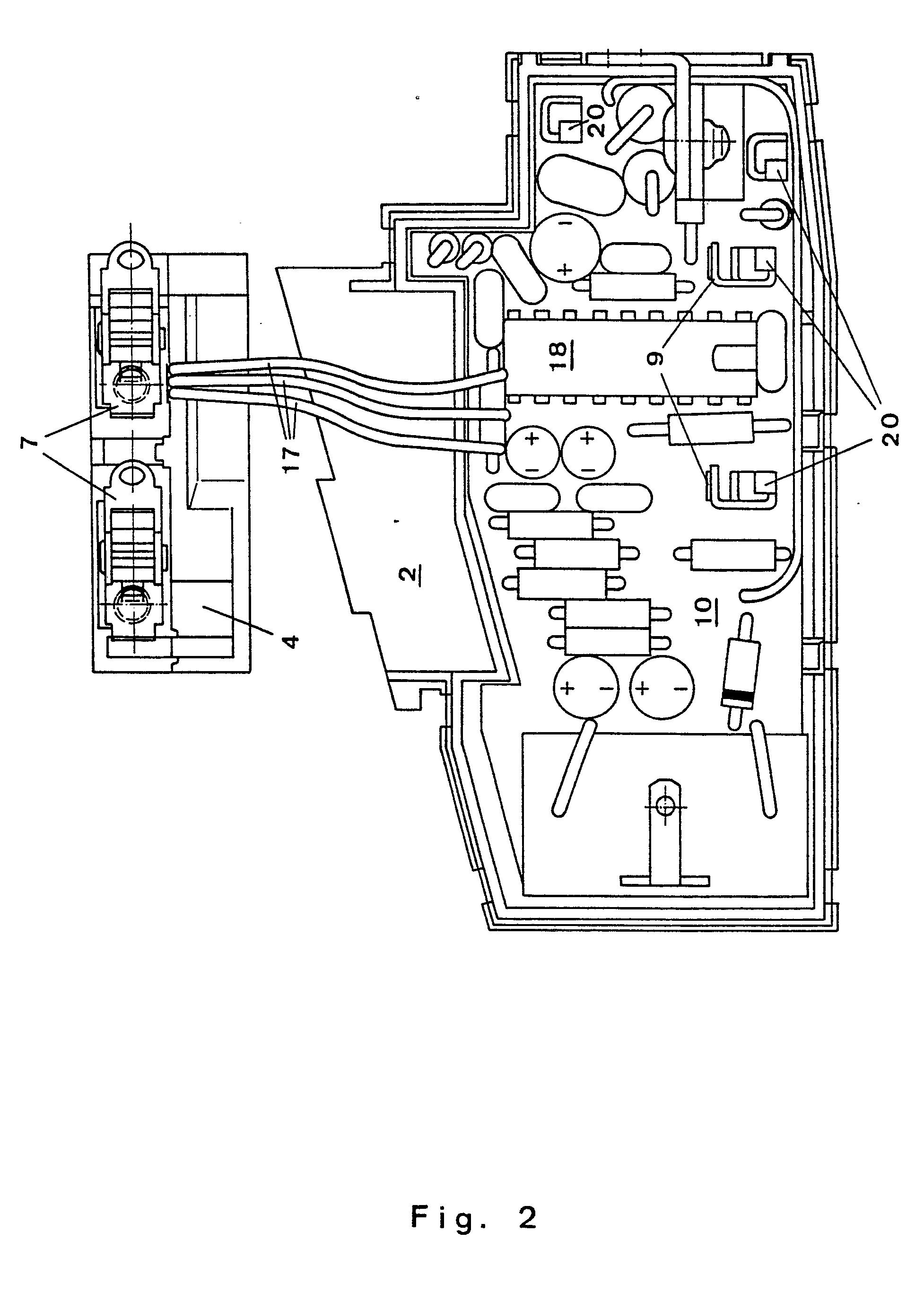 Druckschalter verhaken Zeichnung