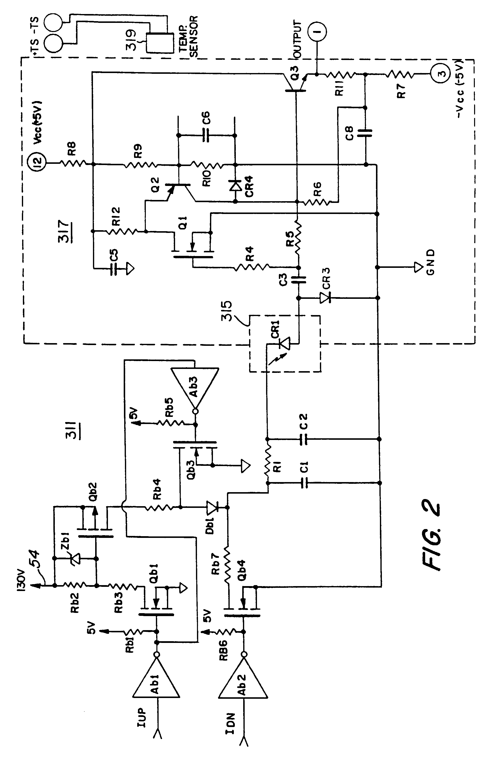 Laser Range Finder Receiver Patent 0757257 The Transimpedance Amplifier Circuit Drawing