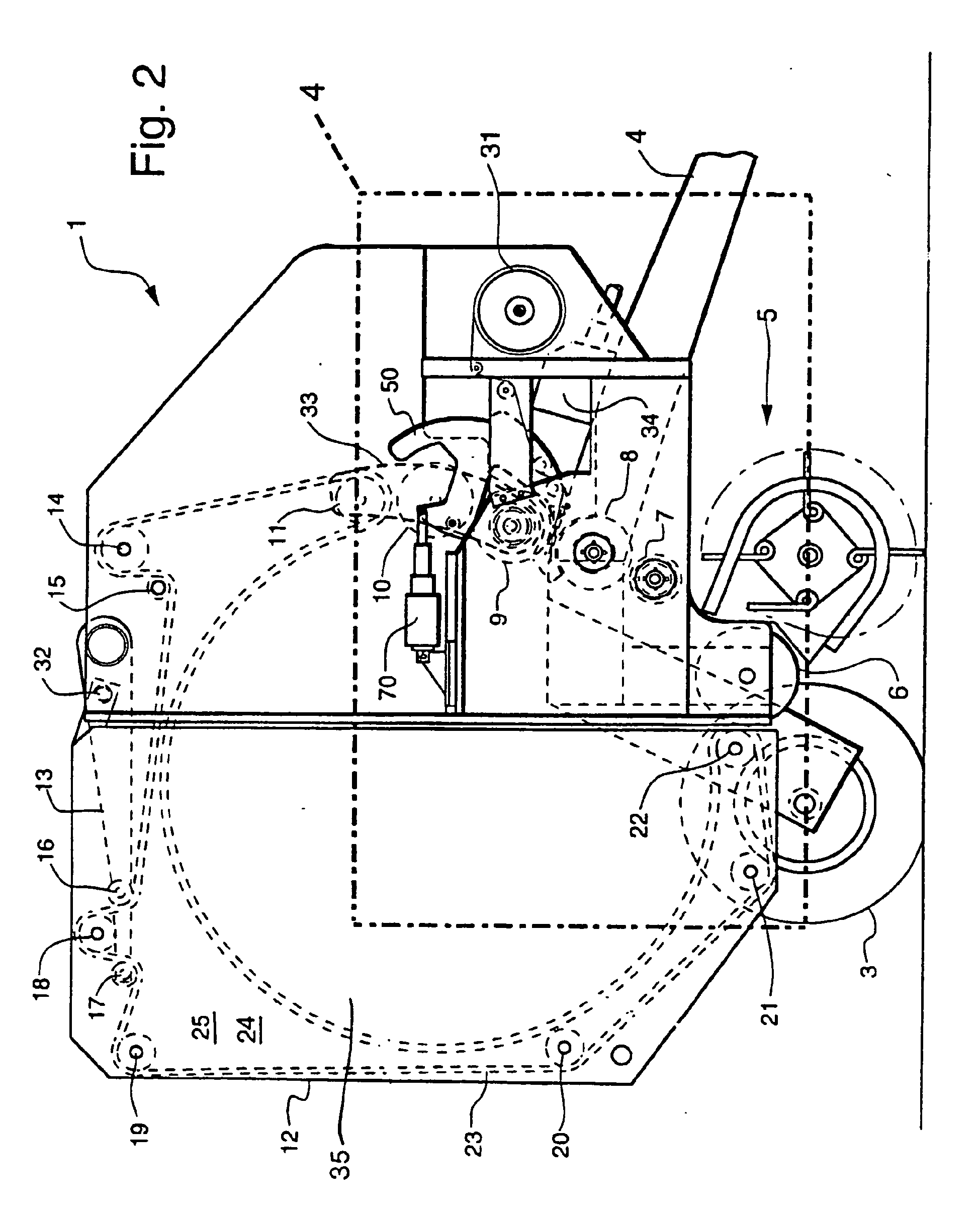 Over the edge net wrap dispensing system for a round baler - Patent