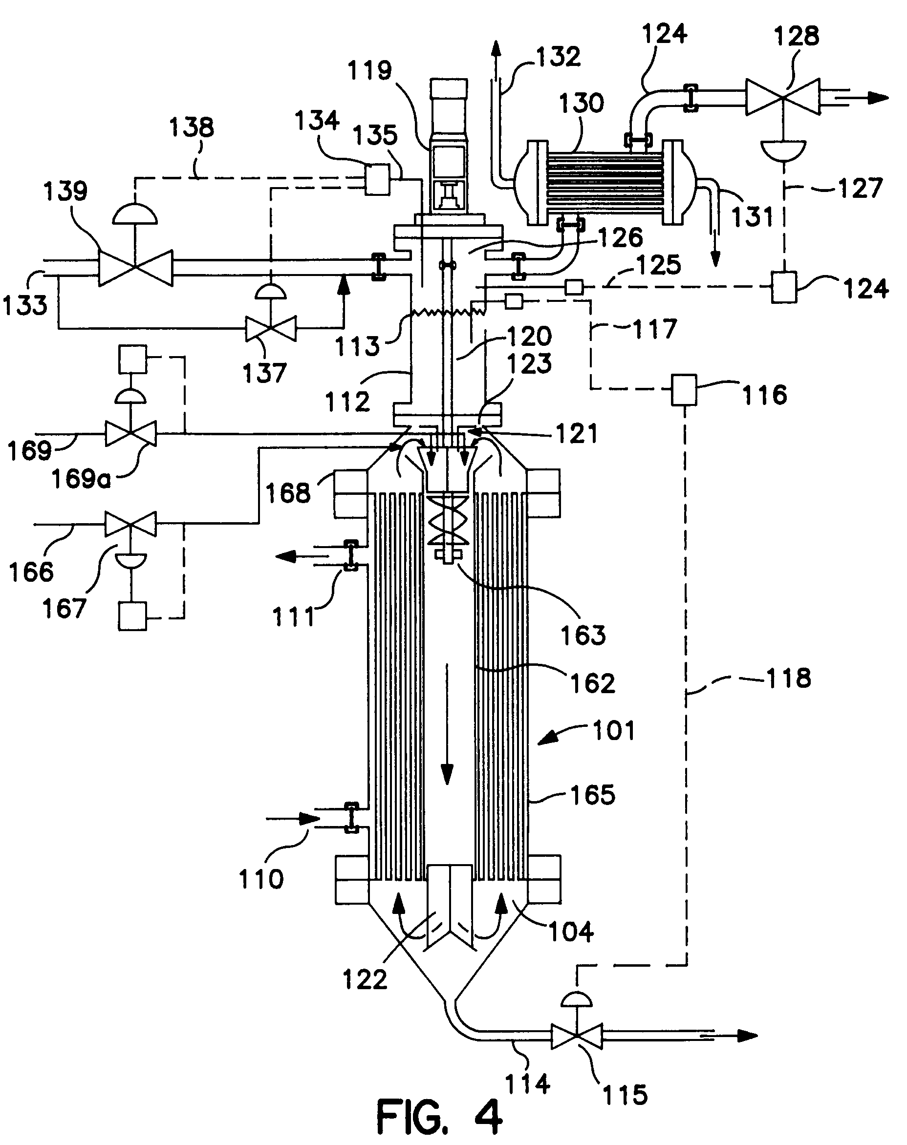 Tube and shell reactor system   Patent 20