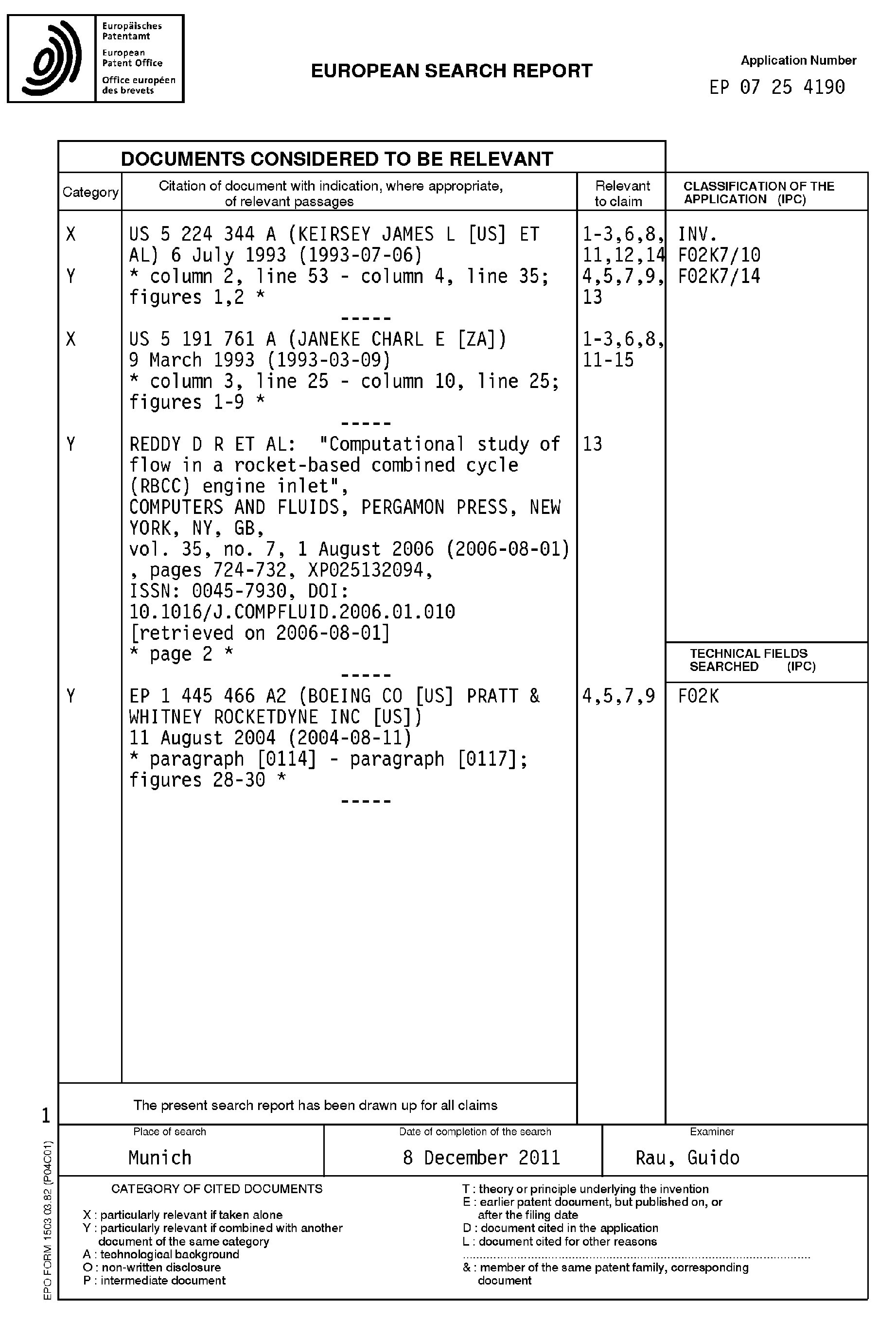 Scramjet/ramjet engine with annular isolator - Patent 1916407